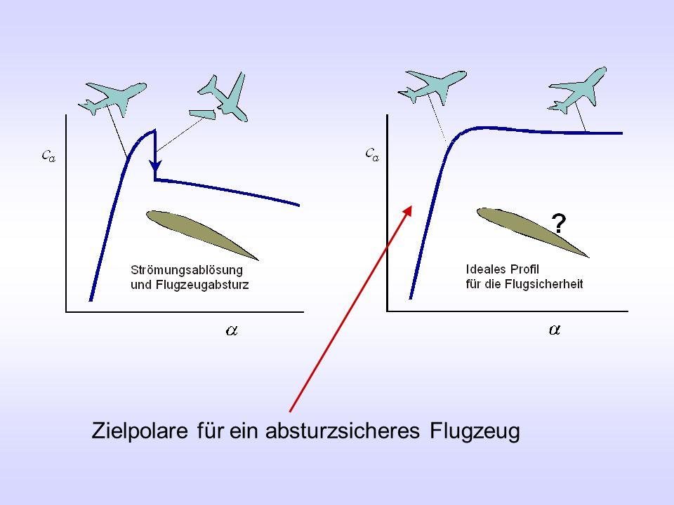 Zielpolare für ein absturzsicheres Flugzeug