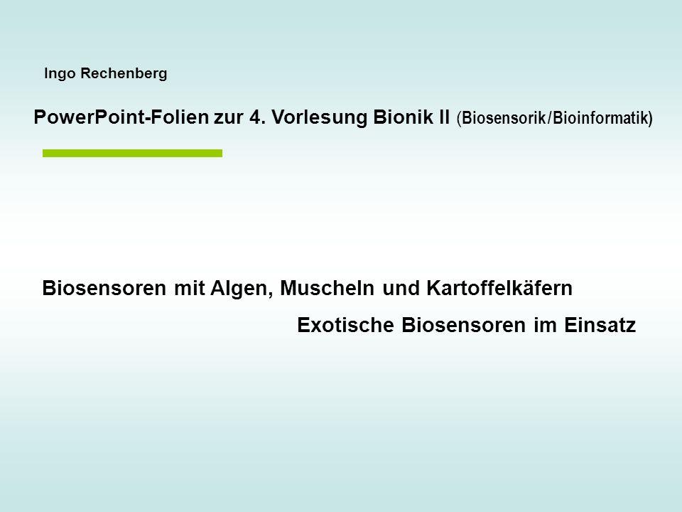 Biosensoren mit Algen, Muscheln und Kartoffelkäfern