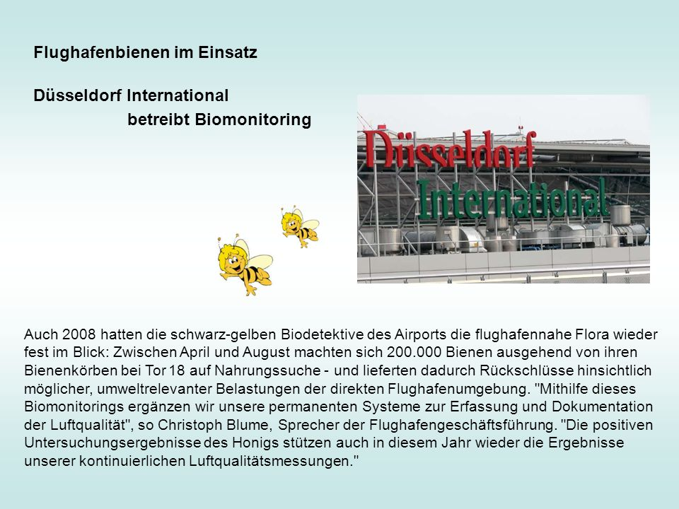 Flughafenbienen im Einsatz Düsseldorf International