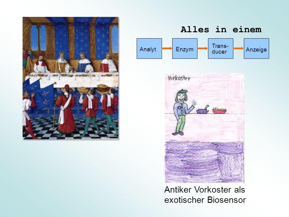 Alles in einem Antiker Vorkoster als exotischer Biosensor Analyt Enzym
