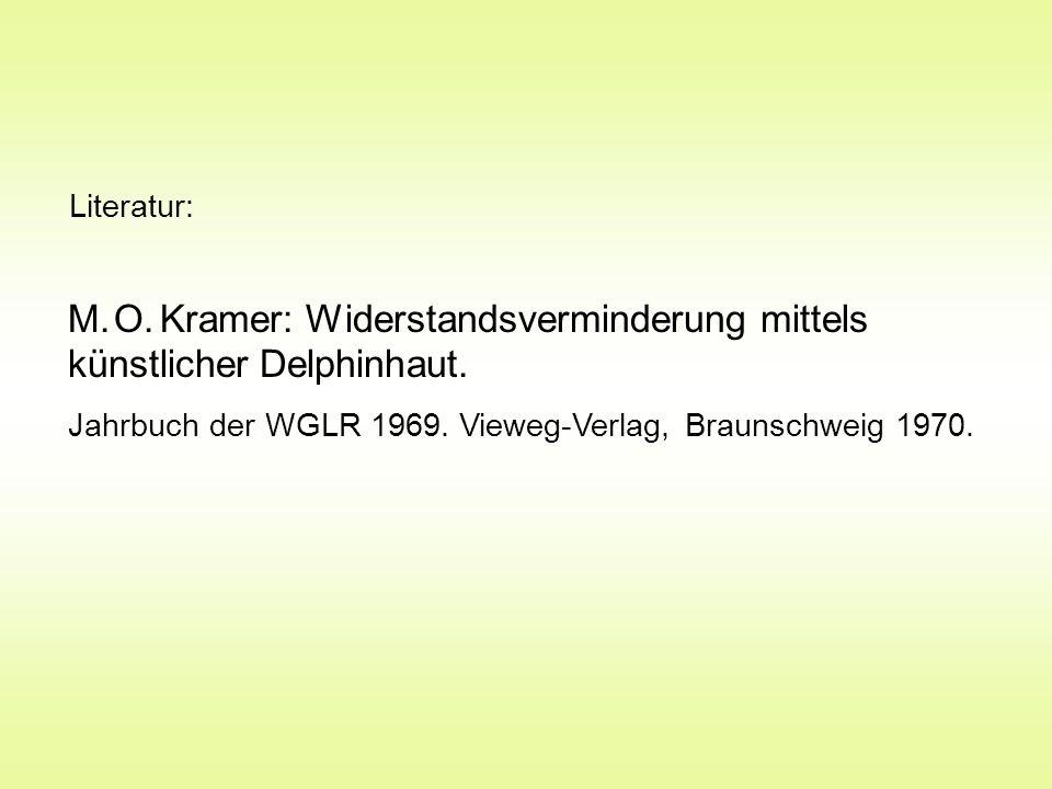 M. O. Kramer: Widerstandsverminderung mittels künstlicher Delphinhaut.