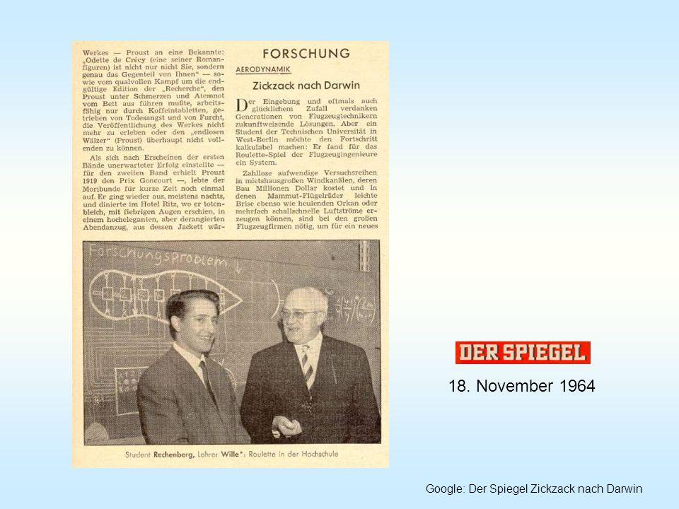 18. November 1964 Google: Der Spiegel Zickzack nach Darwin