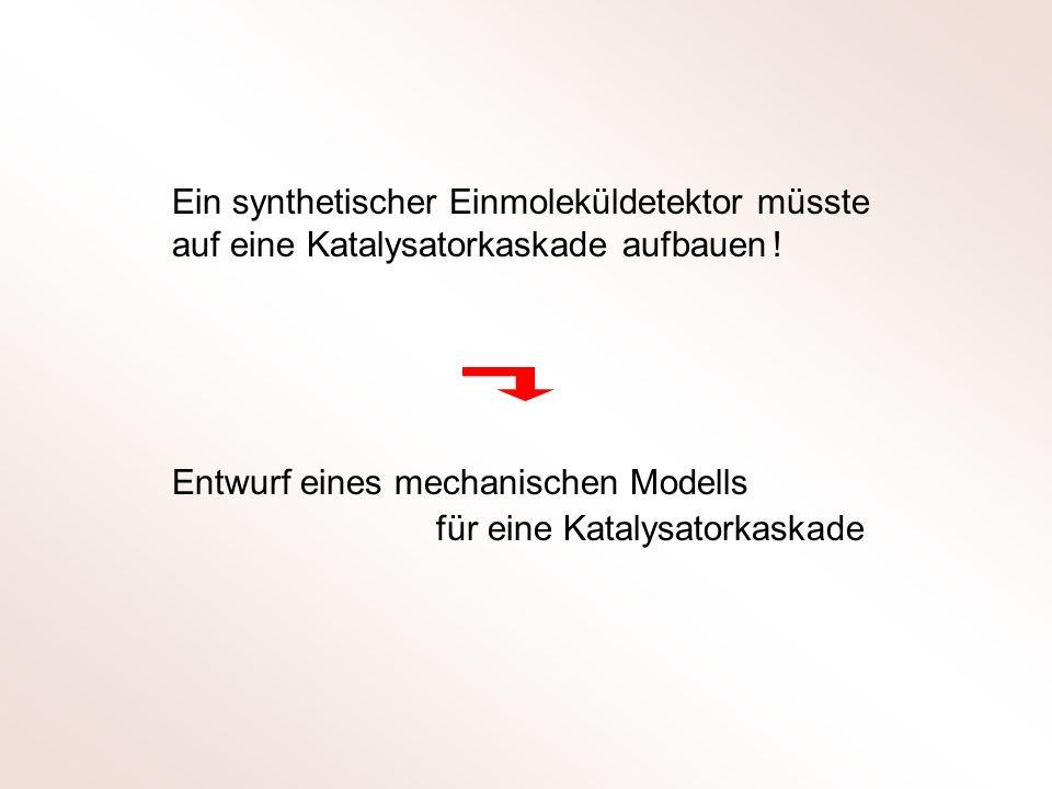Ein synthetischer Einmoleküldetektor müsste auf eine Katalysatorkaskade aufbauen !