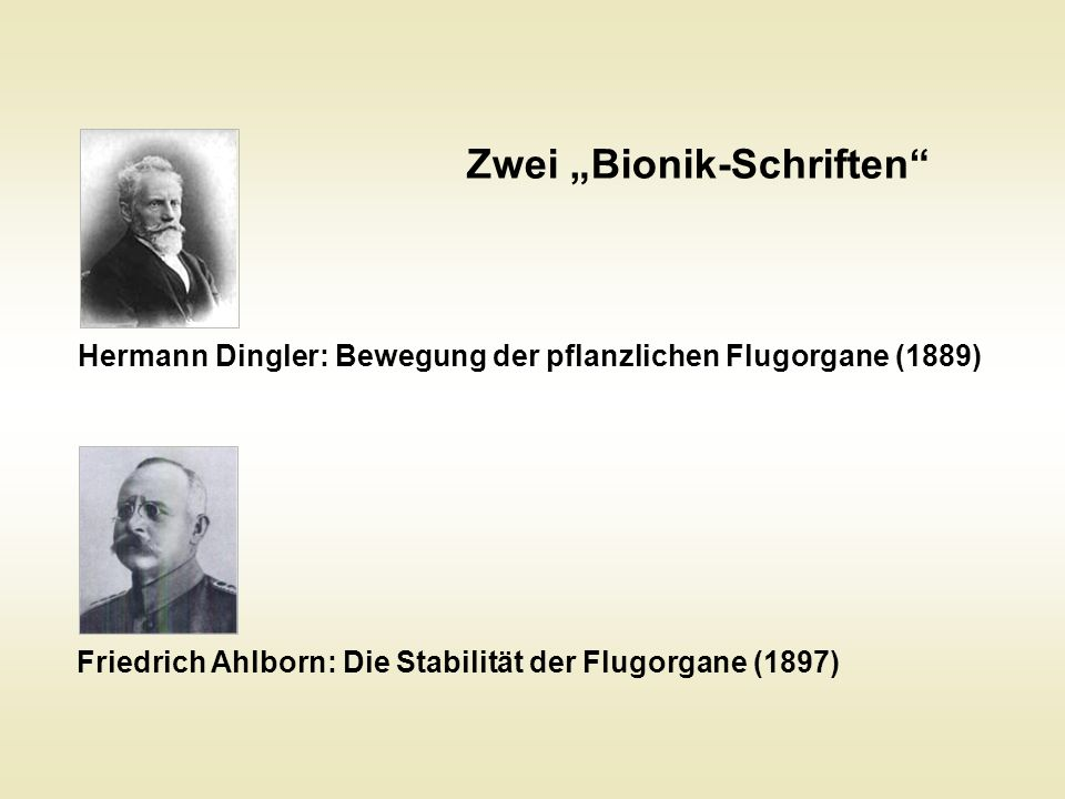"Zwei ""Bionik-Schriften"