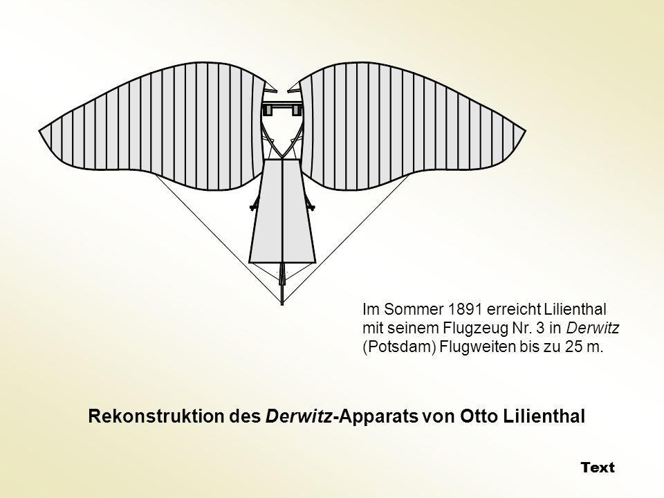 Rekonstruktion des Derwitz-Apparats von Otto Lilienthal
