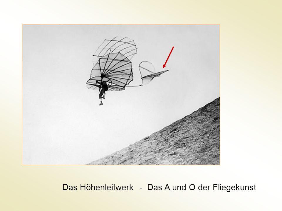Das Höhenleitwerk - Das A und O der Fliegekunst
