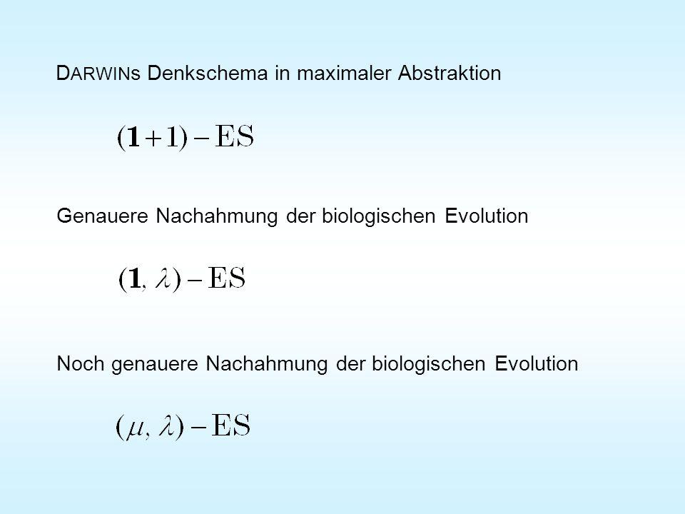 DARWINs Denkschema in maximaler Abstraktion
