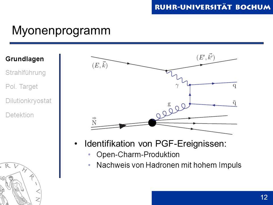 Myonenprogramm Identifikation von PGF-Ereignissen: