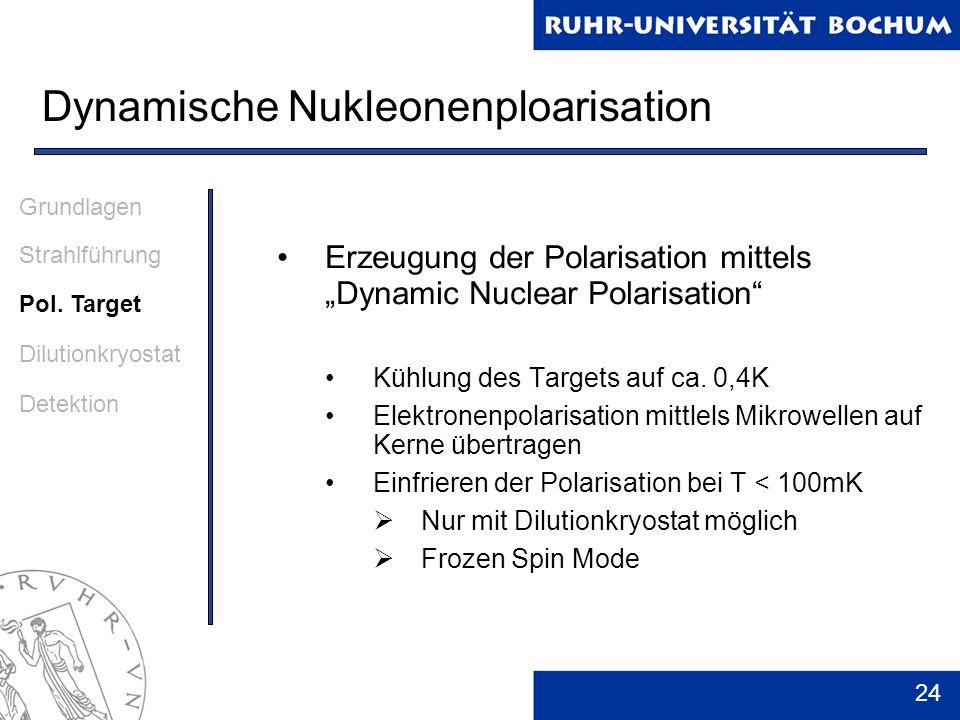 Dynamische Nukleonenploarisation