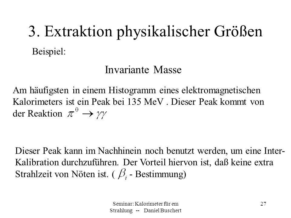 3. Extraktion physikalischer Größen