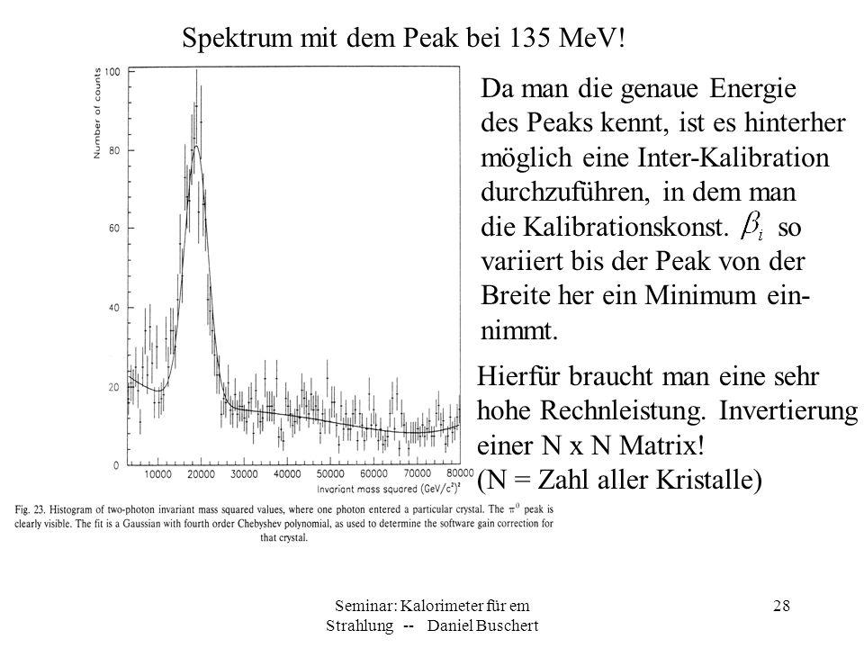 Seminar: Kalorimeter für em Strahlung -- Daniel Buschert