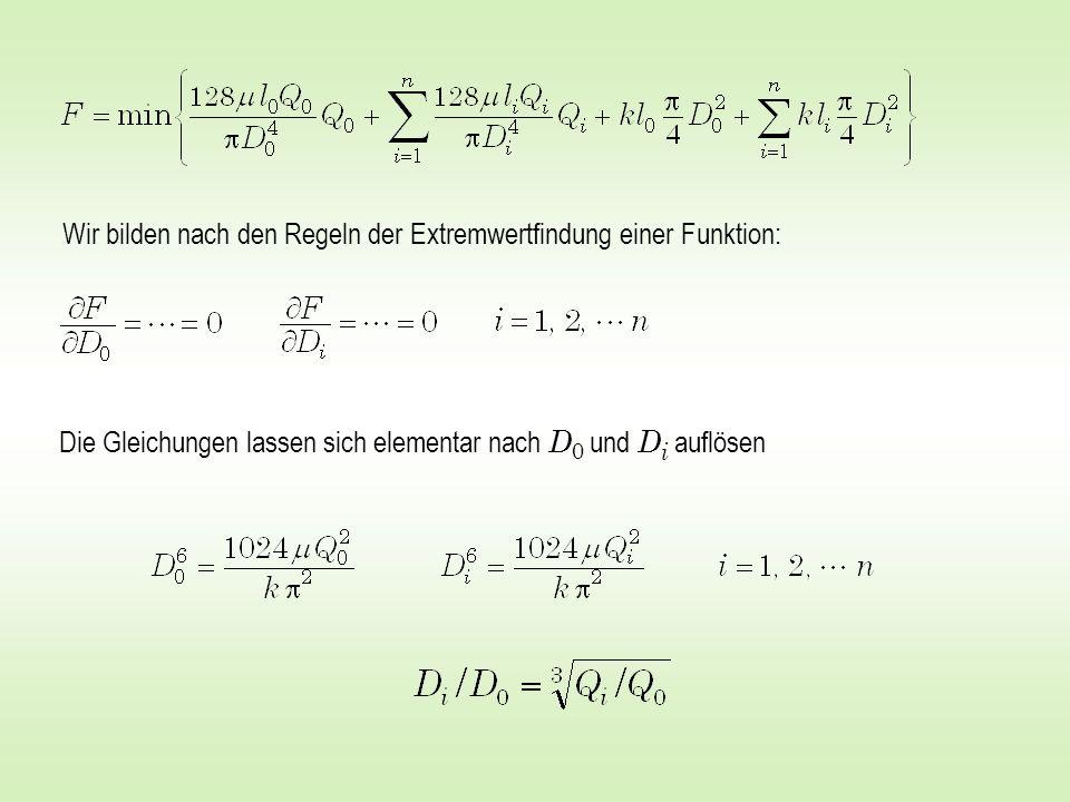 Wir bilden nach den Regeln der Extremwertfindung einer Funktion: