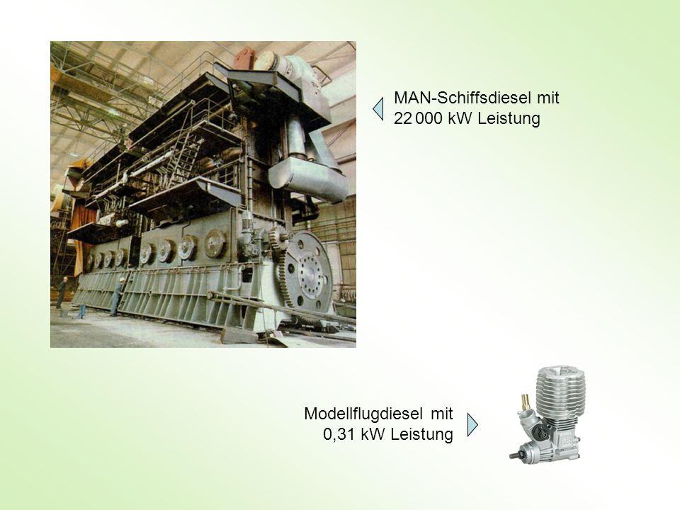 MAN-Schiffsdiesel mit 22 000 kW Leistung