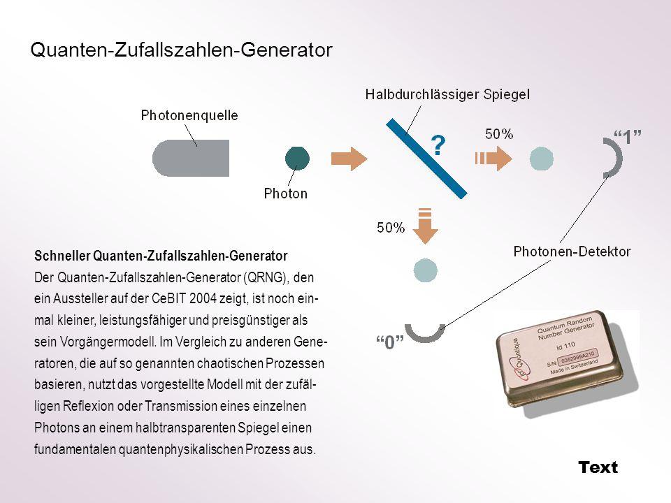 Quanten-Zufallszahlen-Generator