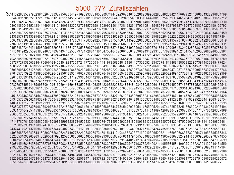 5000 - Zufallszahlen 3,