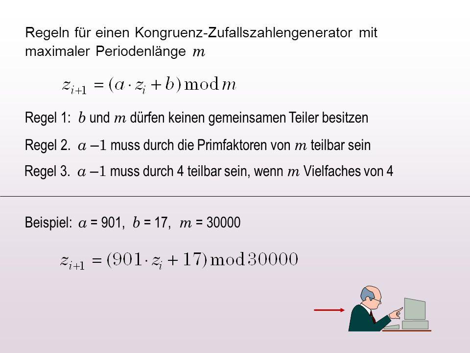 Regel 1: b und m dürfen keinen gemeinsamen Teiler besitzen