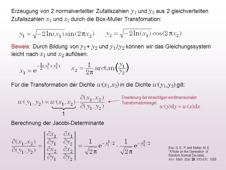 Berechnung der Jacobi-Determinante