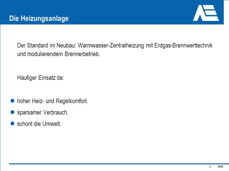 Die Heizungsanlage Der Standard im Neubau: Warmwasser-Zentralheizung mit Erdgas-Brennwerttechnik und modulierendem Brennerbetrieb.