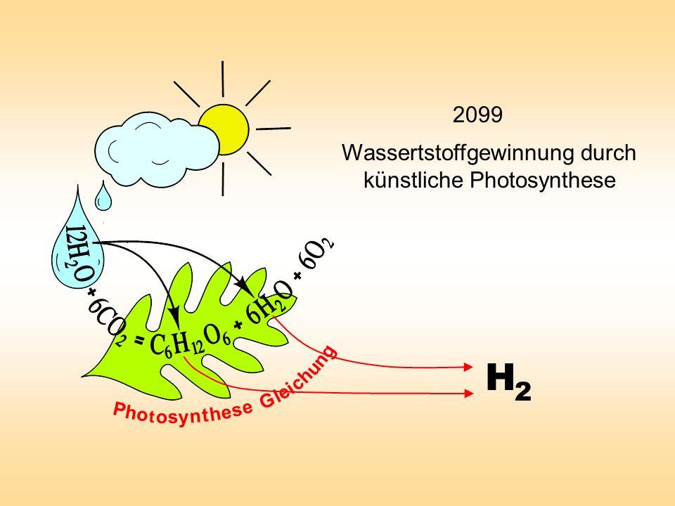 Wassertstoffgewinnung durch künstliche Photosynthese