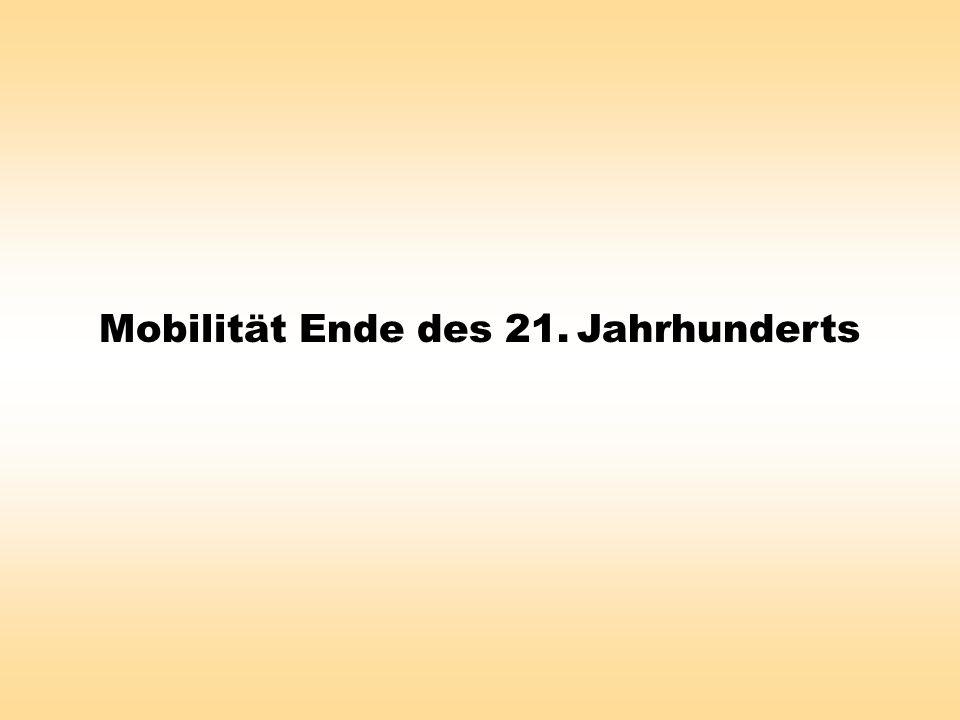 Mobilität Ende des 21. Jahrhunderts