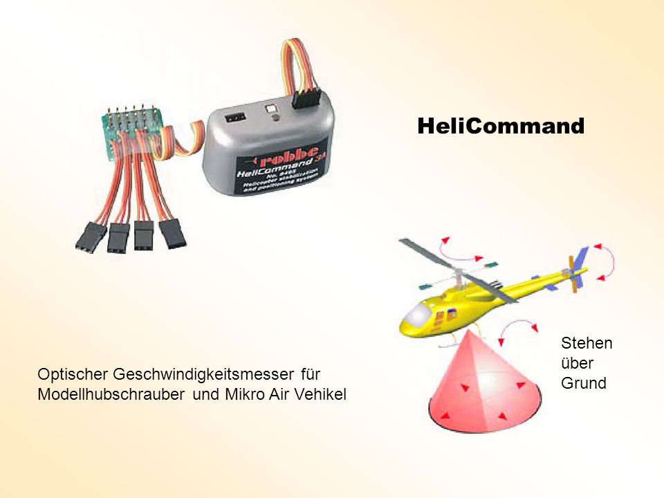 HeliCommand Stehen über Grund