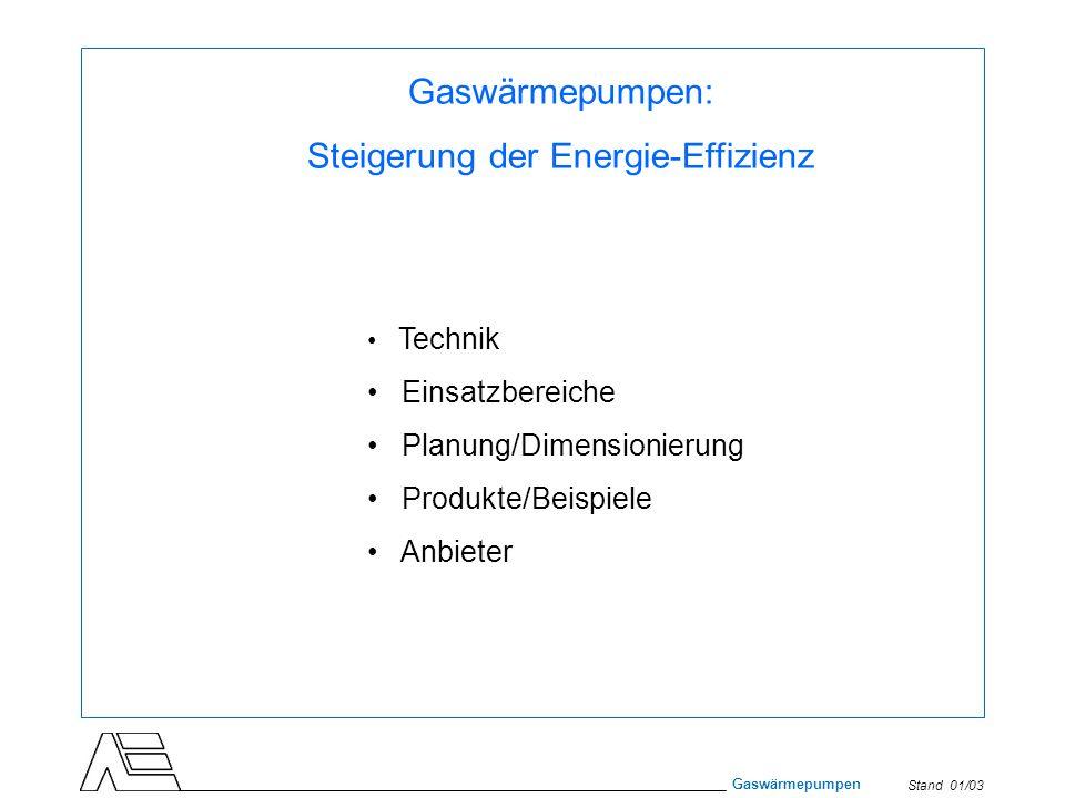 Steigerung der Energie-Effizienz