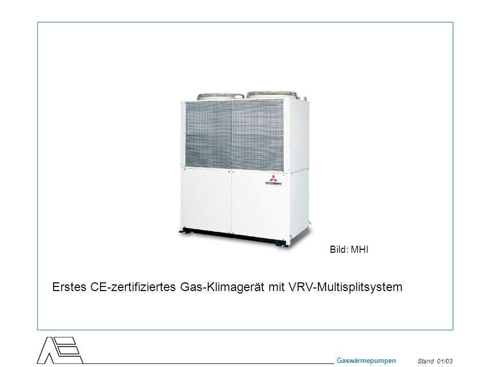 Erstes CE-zertifiziertes Gas-Klimagerät mit VRV-Multisplitsystem