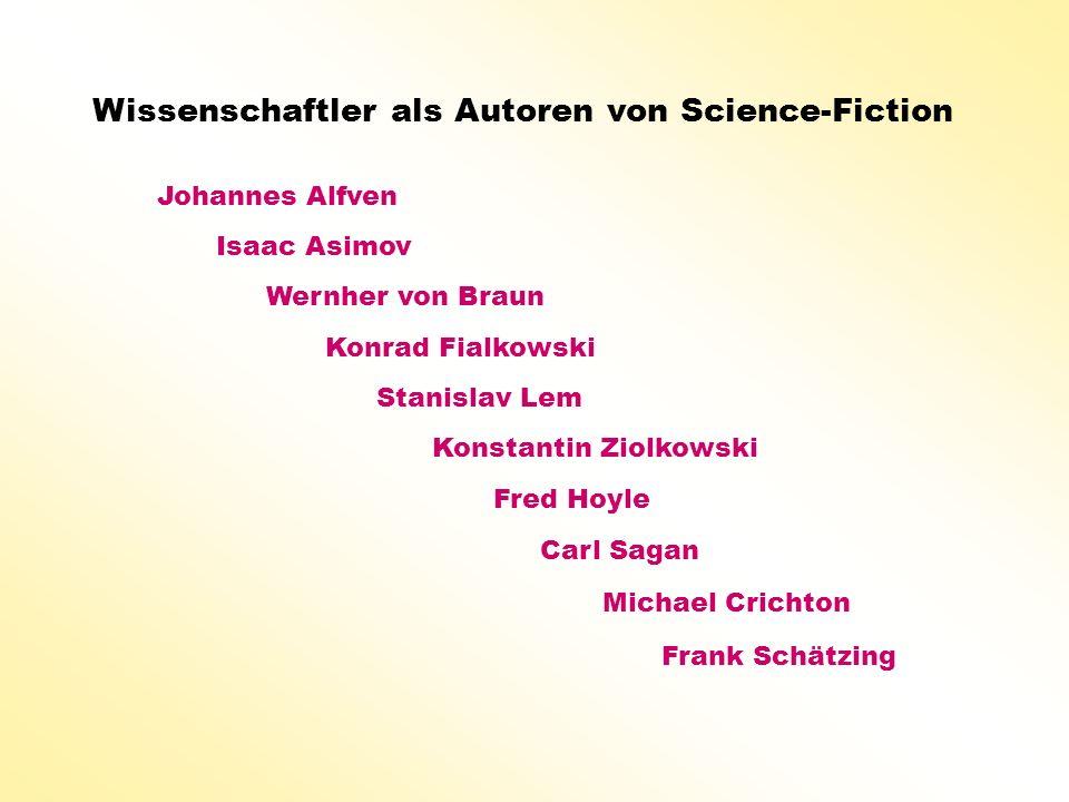 Wissenschaftler als Autoren von Science-Fiction