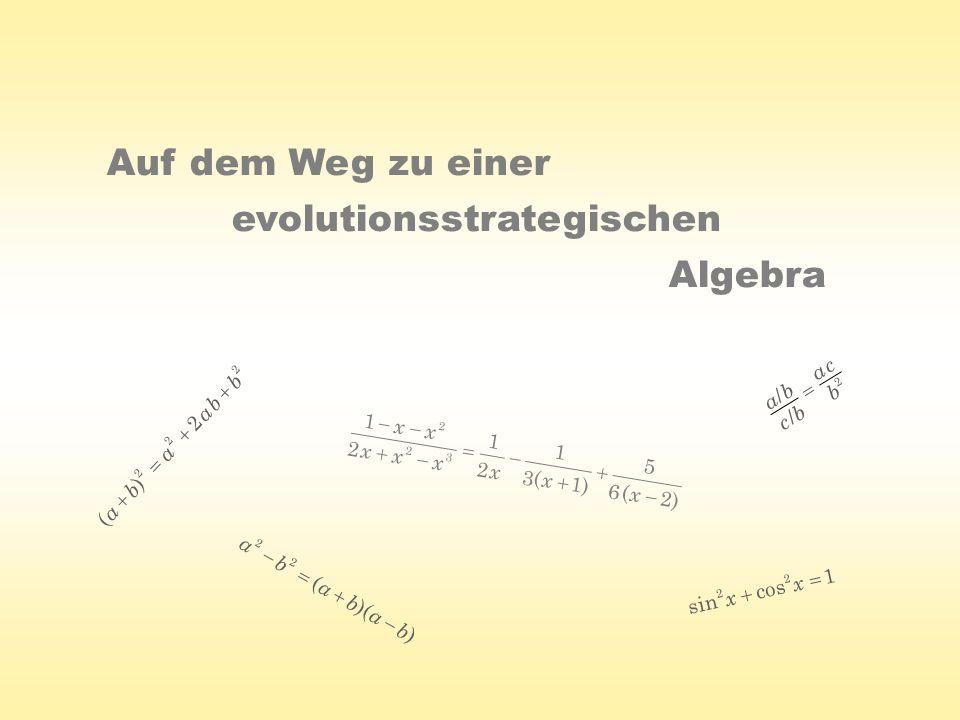 evolutionsstrategischen Algebra