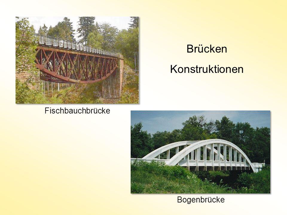 Brücken Konstruktionen Fischbauchbrücke Bogenbrücke