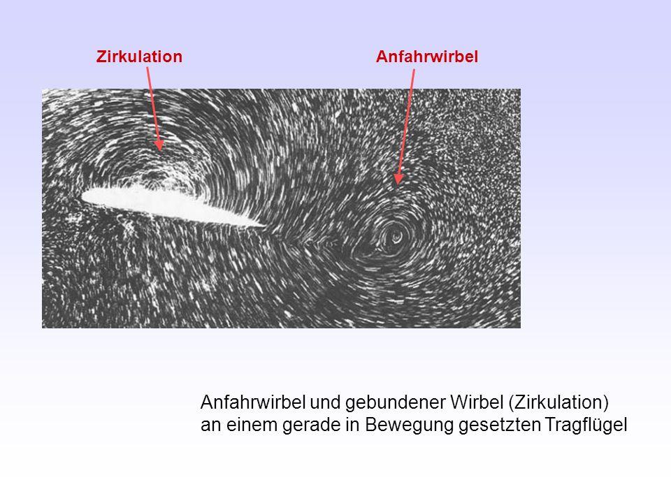 Zirkulation Anfahrwirbel.