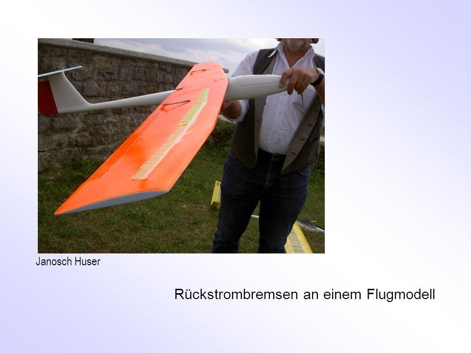 Rückstrombremsen an einem Flugmodell