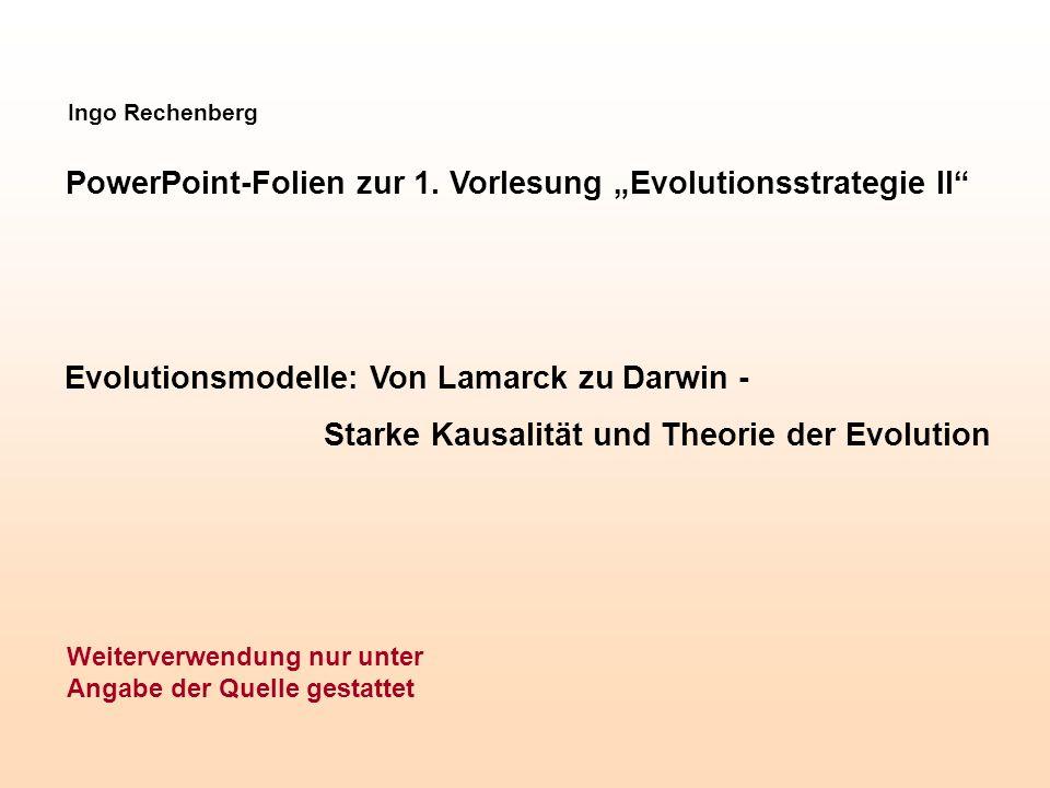 """PowerPoint-Folien zur 1. Vorlesung """"Evolutionsstrategie II"""