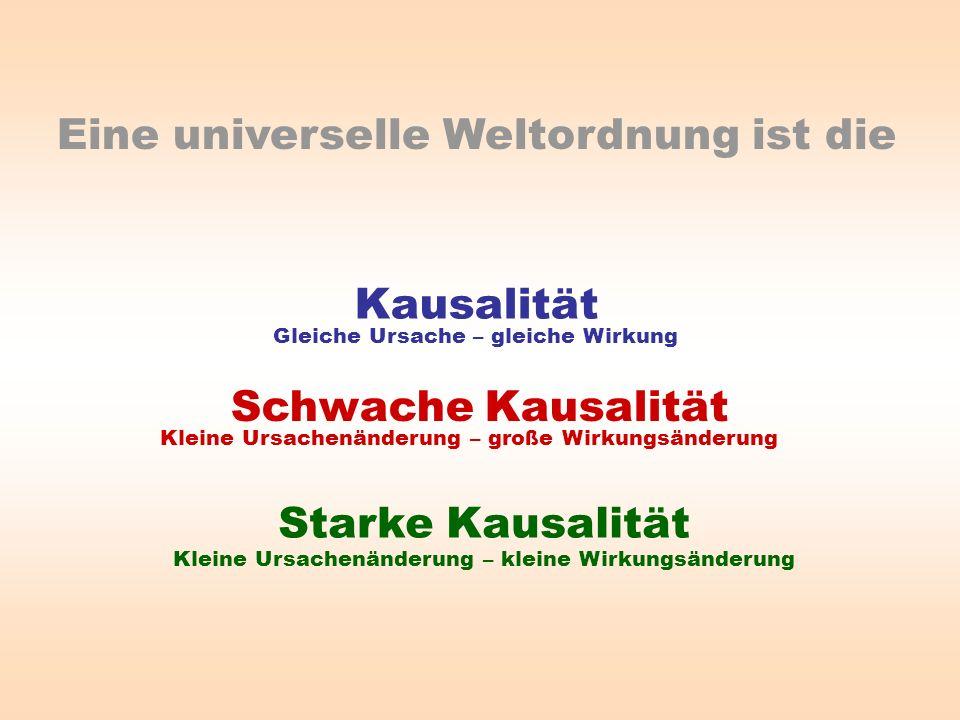 Eine universelle Weltordnung ist die