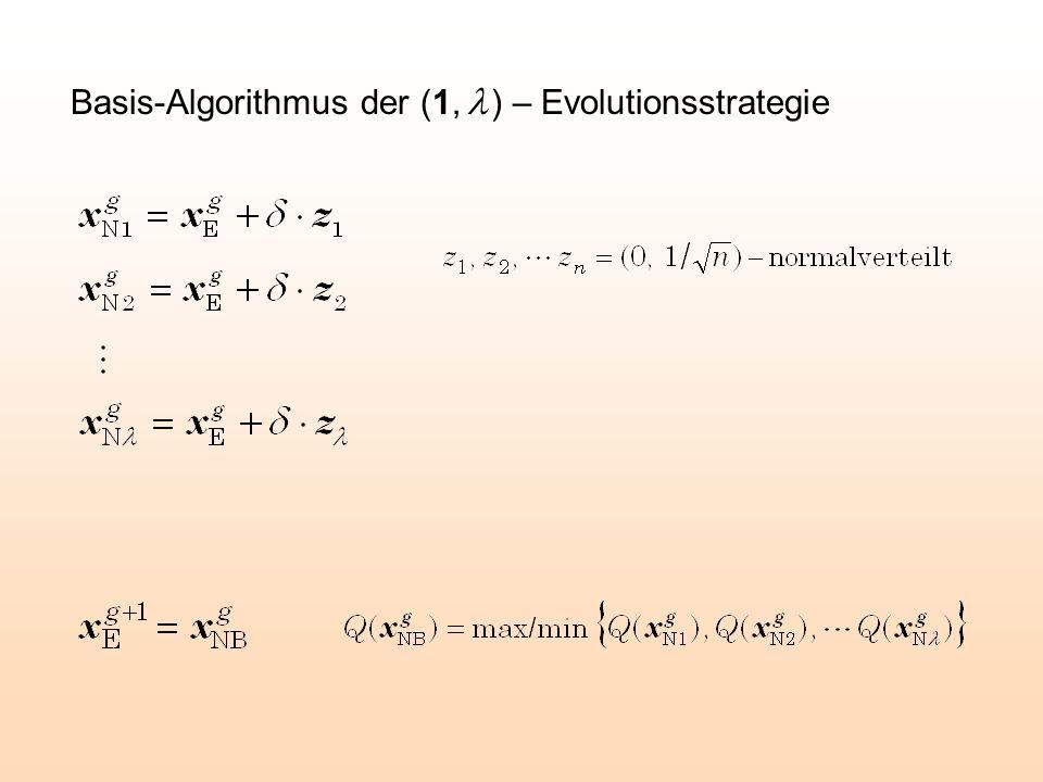 Basis-Algorithmus der (1, l ) – Evolutionsstrategie