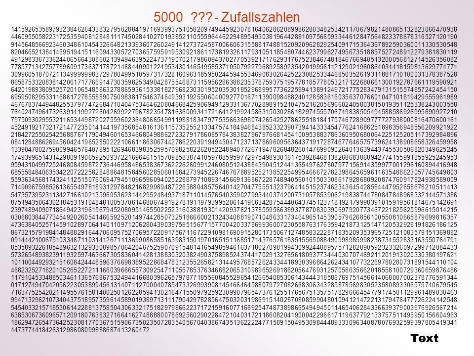 5000 - Zufallszahlen