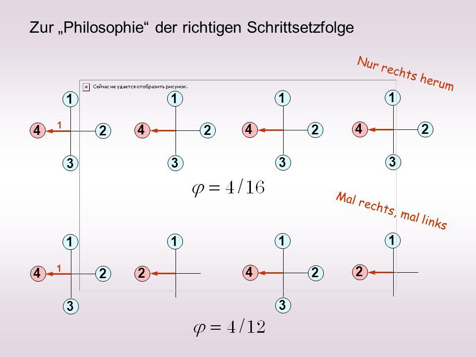 """Zur """"Philosophie der richtigen Schrittsetzfolge"""
