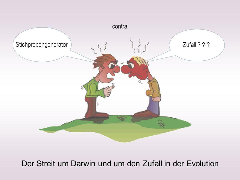 Der Streit um Darwin und um den Zufall in der Evolution