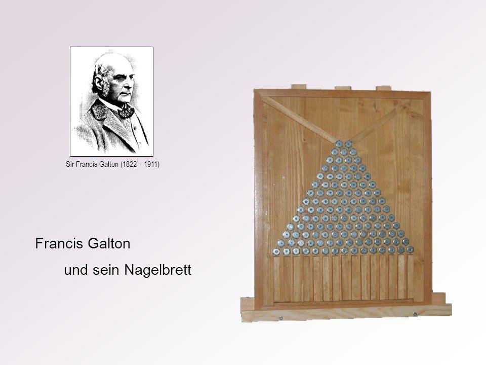 Sir Francis Galton (1822 - 1911) Francis Galton und sein Nagelbrett