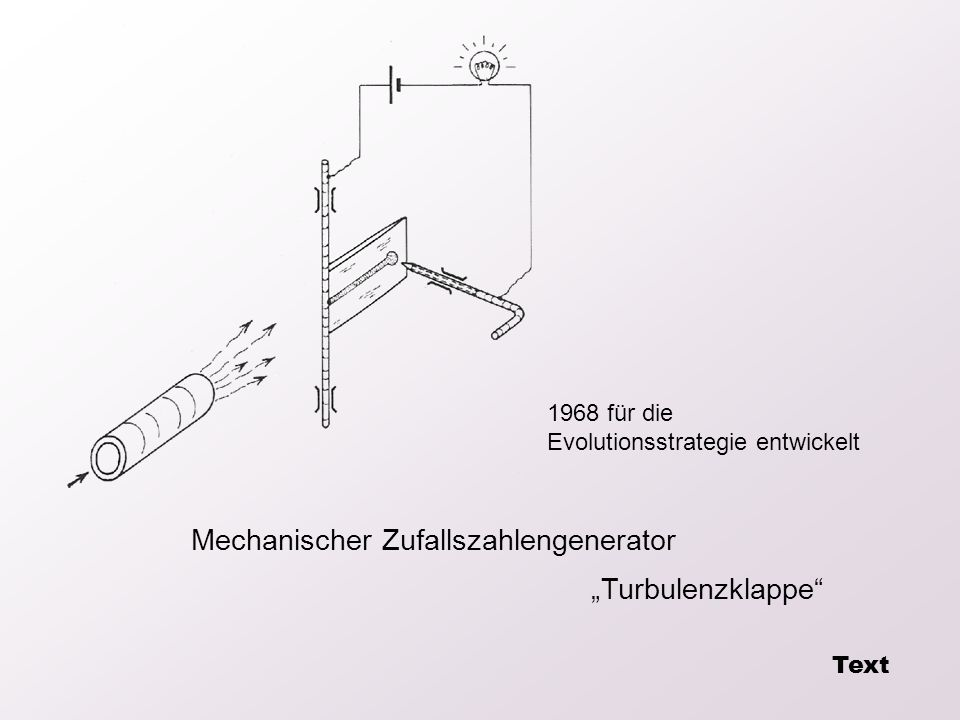 "Mechanischer Zufallszahlengenerator ""Turbulenzklappe"