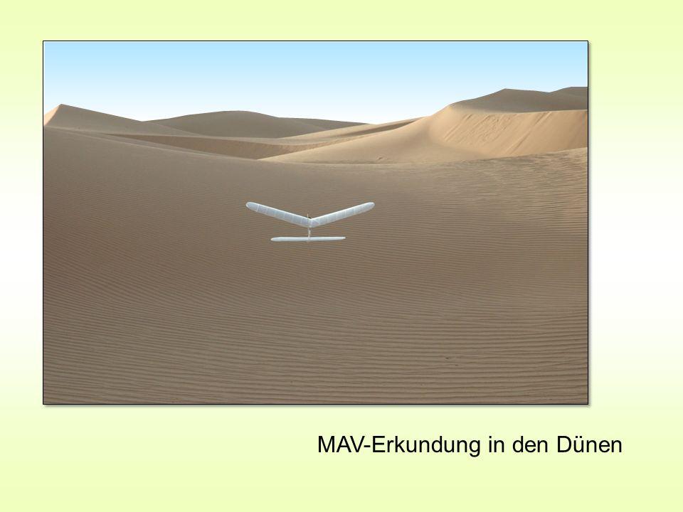 MAV-Erkundung in den Dünen