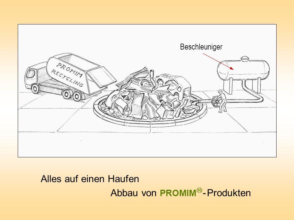 Abbau von PROMIM- Produkten