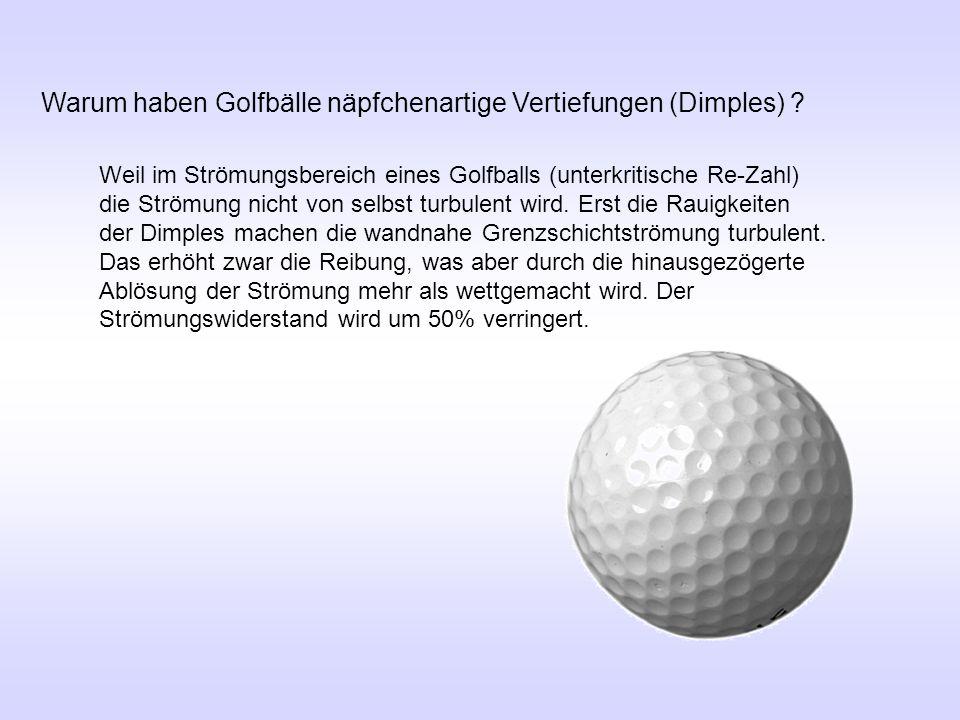 Warum haben Golfbälle näpfchenartige Vertiefungen (Dimples)