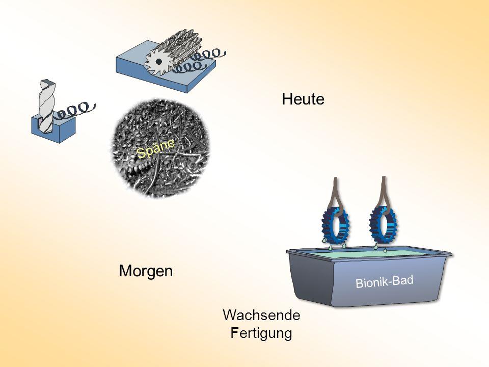 Heute Späne Spanende Fertigung Morgen Bionik-Bad Wachsende Fertigung