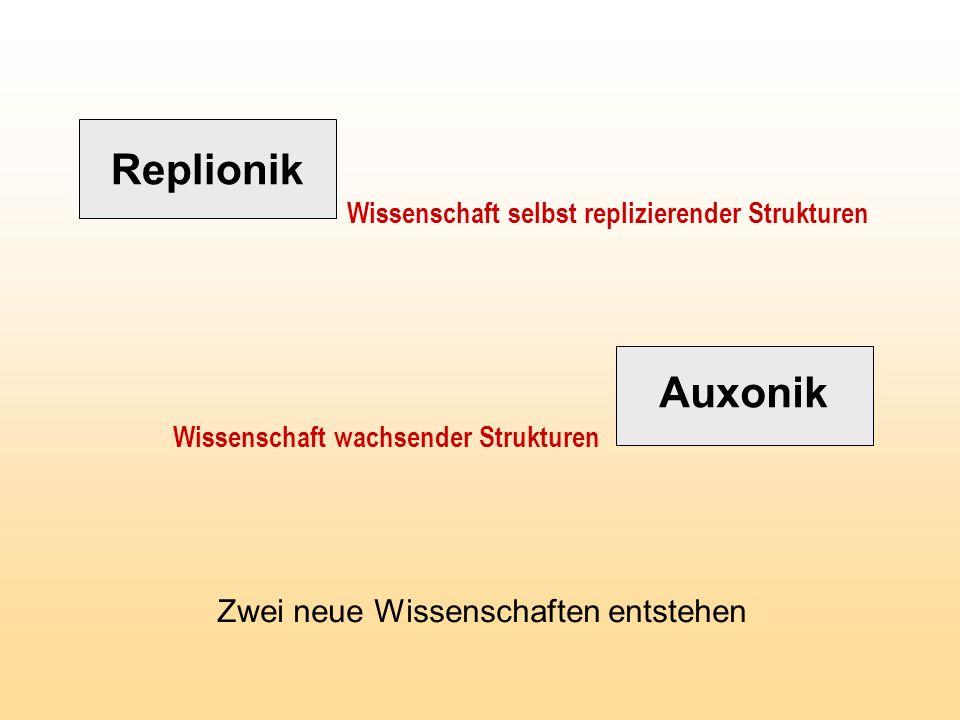Replionik Auxonik Zwei neue Wissenschaften entstehen
