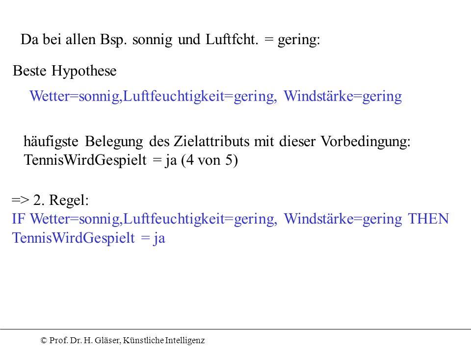 Da bei allen Bsp. sonnig und Luftfcht. = gering: