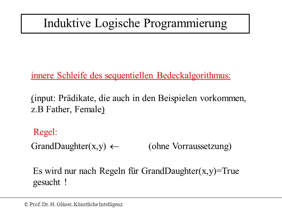 Induktive Logische Programmierung