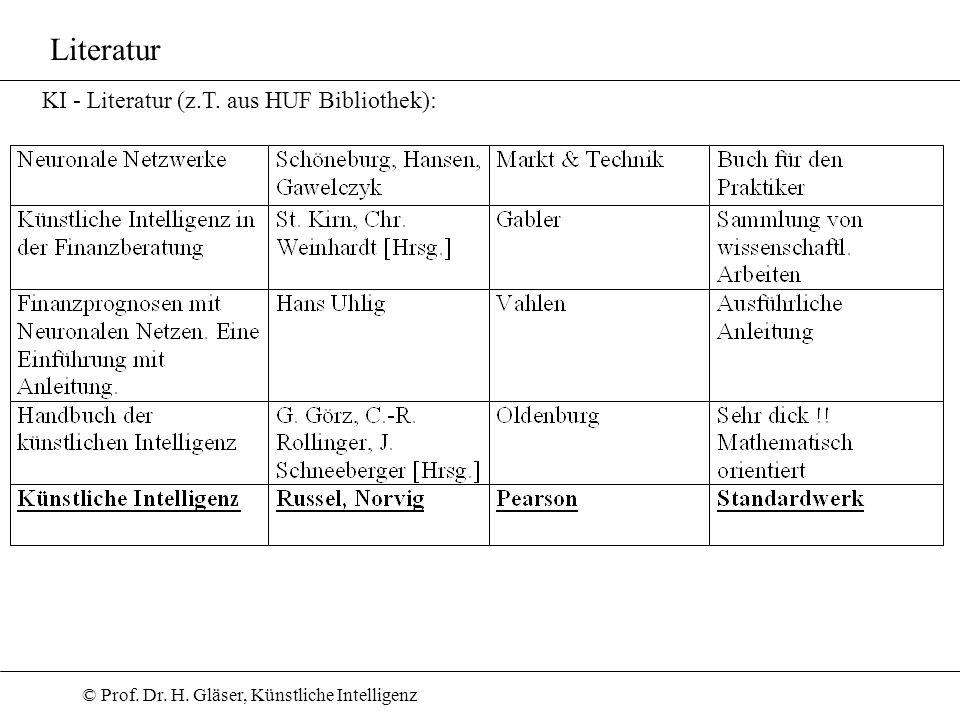 Literatur KI - Literatur (z.T. aus HUF Bibliothek):