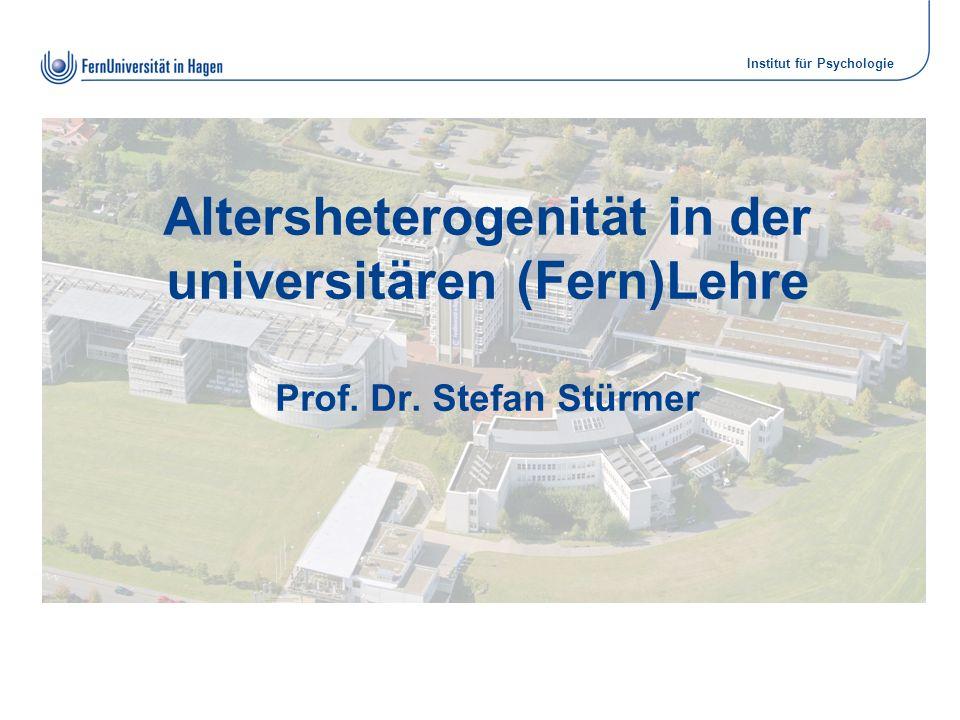 Altersheterogenität in der universitären (Fern)Lehre Prof. Dr