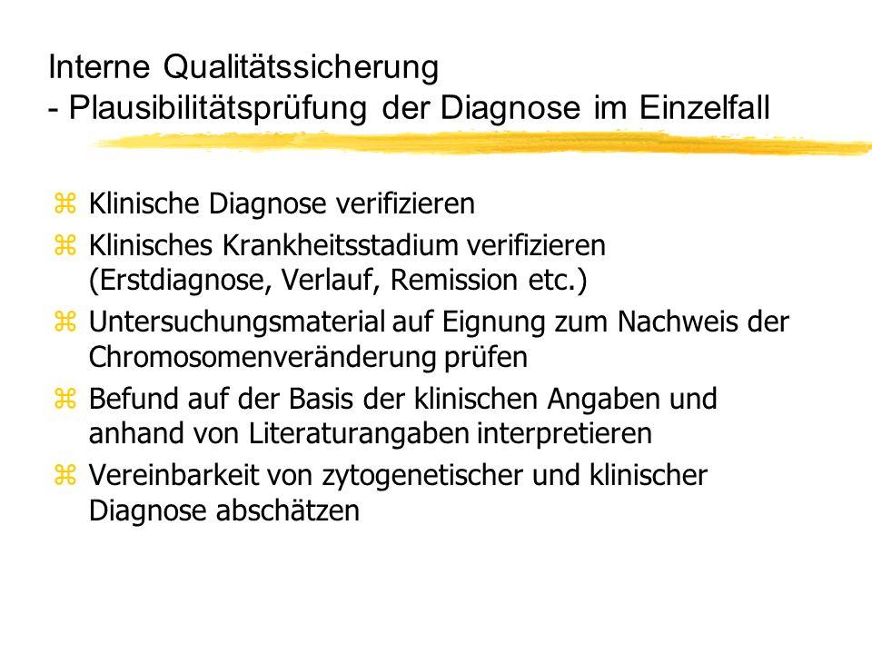 Interne Qualitätssicherung - Plausibilitätsprüfung der Diagnose im Einzelfall